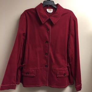 Women's Red Talbots Stretch Petites Jacket